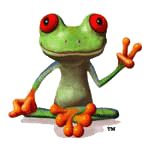 Peace Frog Carpet Cleaning logo of tree frog giving peace sign