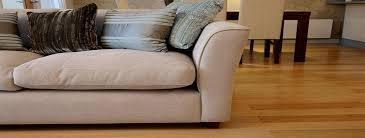 Cleaned couch on light hardwood floor