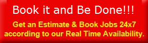 Book it and be Done red banner button