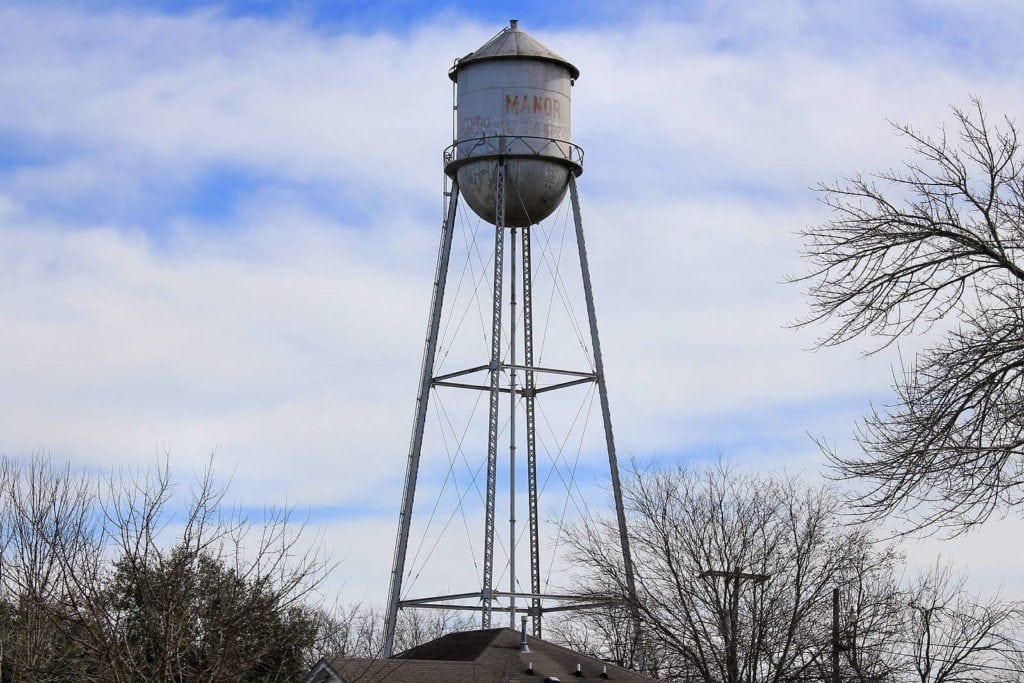 View of Manor Water Tower