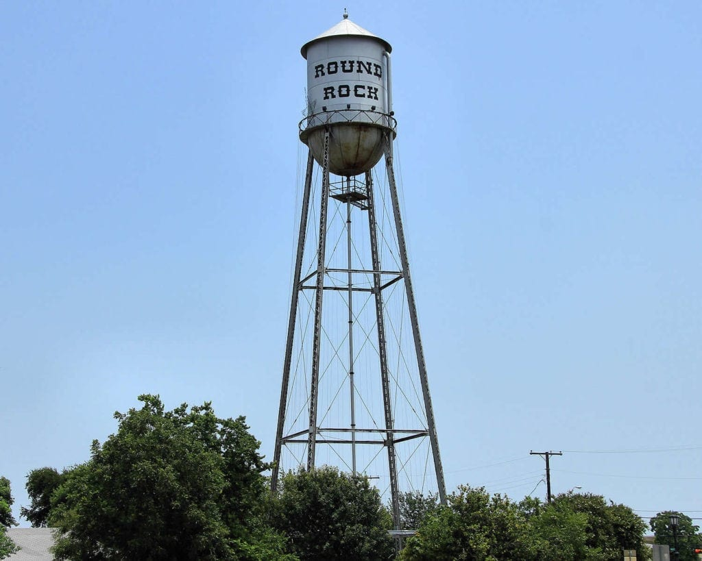 Round Rock Water Tower in Texas