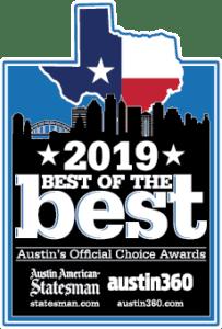 2019 Austin Best of the Best award badge