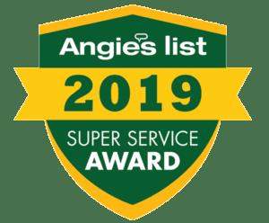 Angie's List 2019 Super Service Award logo